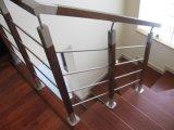 Pasamano de interior/al aire libre de la alta calidad del acero inoxidable 316 de la escalera para la barandilla de la escalera con la barra de Rod del sólido de 8m m
