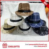 Chapeau de paille de papier raide de mode de couleur de mélange