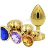 女性の人のための5つのPCS/Lotの大型の金属のSuppositoryの水晶宝石類の刺激のバットプラグの肛門のプラグのマッサージャーの好色な性のおもちゃ