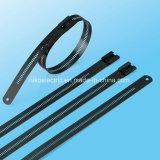 Edelstahl-Kabelbinder-Strichleiter-Widerhaken-Verschluss-Art für örtlich festgelegte Position