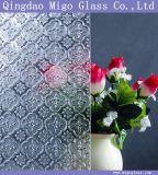 3m m 4m m 5m m 6m m 8m m claros/colorearon el vidrio grabado rodado con el modelo de la flora