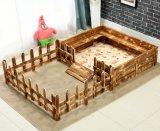 Casas inacabados do infante do cão da madeira contínua de camadas dobro