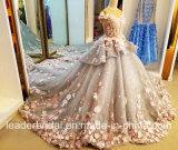 Gli abiti nuziali Arabics dei fiori fiorisce il vestito da cerimonia nuziale su ordinazione di lusso Y0101