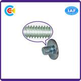 가구 부엌 찬장을%s 강철에 의하여 직류 전기를 통하는 M4 6각형 단추 또는 팬 맨 위 나사