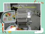 Único tampão principal e máquina computarizada lisa do bordado dos projetos do irmão das agulhas da máquina 12 do bordado