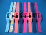 Logotipo ajustável impermeável faixas de relógio personalizadas do bracelete do silicone