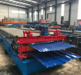 China runzelte die Stahldach-Metallblatt-Rolle, die Maschine bildet