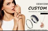 Большое красное кольцо R10604 ювелирных изделий стерлингового серебра камня 925 для женщин