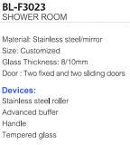 シャワーのガラスドア(BL-F3023)を滑らせる最もよい価格の長方形