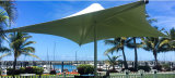 ترقية [بفك] بناء شاطئ مقهى مظلة لأنّ خارجيّ