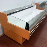 Supermarkt-Teller-Salat-Fleisch-Bildschirmanzeige-Gefriermaschine mit Luft-Vorhang