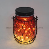 Luz de suspensão estrelado de vidro roxa elegante da lanterna do diodo emissor de luz da decoração do feriado
