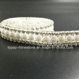 Плоская задняя часть наполовину вокруг перл цепи перл прокладки керамических слипчивой (TS-039)