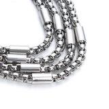 De hete Verkopende Mannen en de Vrouwen van het Titanium van de Manier van de Halsband van het Roestvrij staal met VacuümPlateren (SSNL2632)