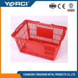 Haltbarer Einzelhandelsgeschäft-Supermarkt-Plastikgriff-beweglicher Einkaufskorb