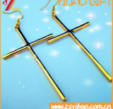Cruz católica antigua/retra del iglesia/casera de la decoración, crucifijo derecho del metal religioso usable