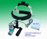 lupas quirúrgicas del funcionamiento de la venda 6X con la linterna del LED