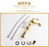 Одной ручкой Luxury Gold Brass Волшебная лампа Zf-M28 Смеситель для раковины Смеситель