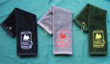 Embroideriedのカスタマイズされたロゴの汗吸収性綿のゴルフ/スポーツタオル