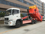 20 toneladas 10 de las ruedas del tirón de carro del brazo con el carro de basura del equipo del compresor