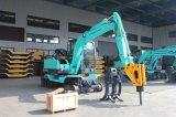 Escavatore idraulico della rotella di alta qualità 6ton, mini escavatore della rotella da vendere