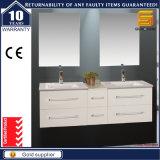 Hoher Glanz Expresso MDF-Badezimmer-Möbel-Schrank mit LED-Spiegel