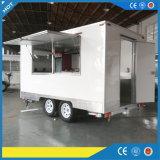 Reboques móveis do caminhão do alimento para a venda