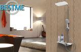 Ливень ванной комнаты гостиницы установленный с полкой