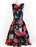 Coton en gros d'usager et robe florale bleue de toile