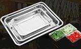 304 Nahrungsmittelgrad-Vierecks-Form-Edelstahl-Nahrungsmitteltellersegment/Verwirrung-Tellersegment