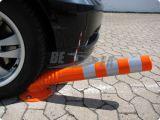 Poste d'avertissement de dessinateur de couleur de circulation flexible orange d'unité centrale