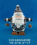 Funny Santa cerámica Tealight Candle Holder
