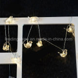 Lumière blanche d'oiseau de Noël de lumière féerique claire de chaîne de caractères pour des décorations de jardin