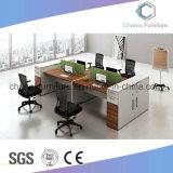Sitio de trabajo de madera del escritorio del ordenador de los muebles del vector moderno de la oficina