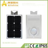 8W todo em uma luz Integrated solar do jardim do diodo emissor de luz da luz de rua com sensor de PIR