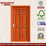 Porte simple en bois de luxe de type chinois (GSP2-052)