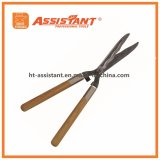 Падение выковало волнистые ножницы изгороди лезвия с ручками золы деревянными