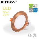 5W 3.5 인치 LED Downlight 스포트라이트 점화 SMD Ce&RoHS 통합 운전사 황금 3CCT