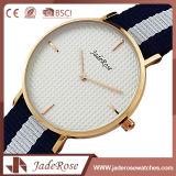 Relógio de vidro mineral preciso das mulheres de quartzo do pulso