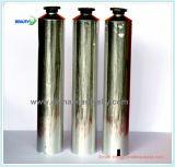 Silberne Farben-Öl-Fertigstellungs-Handbeschriftendes leeres Aluminiumsahnegefäß
