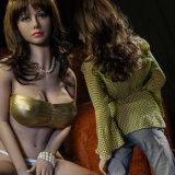 大きい胸のTPEの金属の骨組を搭載する大人の性の人形