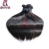 Da extensão brasileira do cabelo de Remy do Virgin do cabelo humano de 100% reto de seda