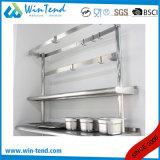 L'étagère ronde de tube a renforcé le Tableau robuste de préparation de la cuisine solides solubles de construction avec la patte réglable de hauteur