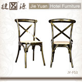Good Quality Iron Cross Back Chair for Cafe Restaurant (JY-F53)