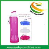 Bottiglia di acqua pieghevole di sport del silicone ecologico