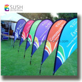 Poteau en fibre de verre personnalisé Teardrop Beach Feather Flying Flag (SU-FG37)
