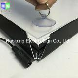 Rectángulo ligero delgado blanco de aluminio rápido del marco LED para la muestra del almacén