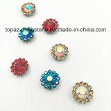 2017 Nieuw en Top Quality 9mm Crystal Flower Claw Setting Sew op Strass Band (de hemel blauw ab van tP-9mm om kristal)