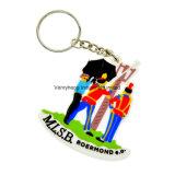 Trousseau de clés promotionnel de PVC 3D