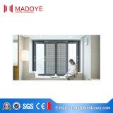 Finestra di scivolamento di alluminio della rottura termica di Guangzhou con la maglia